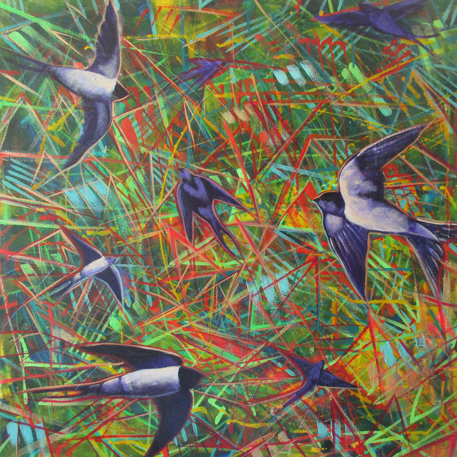FLIGHT OF THE SWALLOW #1_24X24