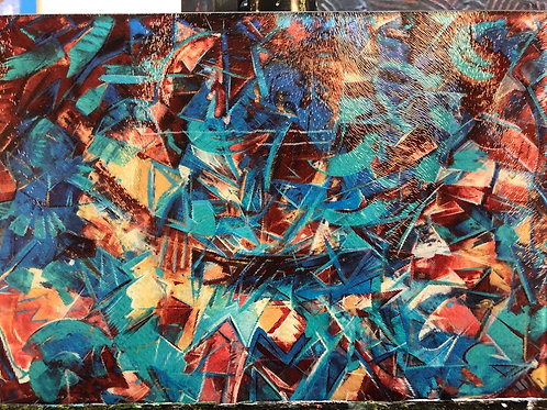 Turquoise dreams cutting board 11x8