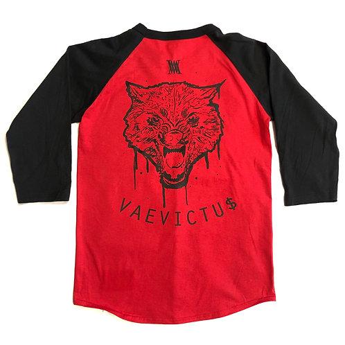 Vaevictu$ red 3/4 sleeve