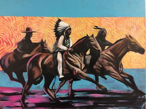 """The Race"" 11x17 print"