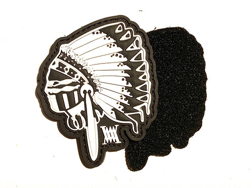 BIG CHIEF rubber velcro patch