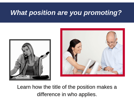 What Position are YOU Promoting?