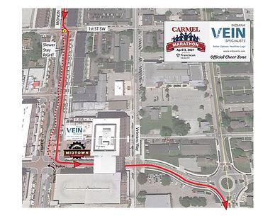 2021 Carmel Marathon Map - Indiana Vein