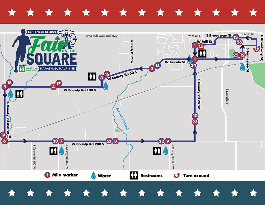 Fair On The Square Marathon Couse Map (0