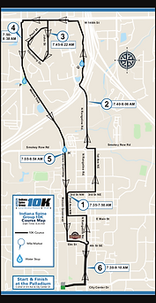 2020 Indiana Spine Group 10K Course Map