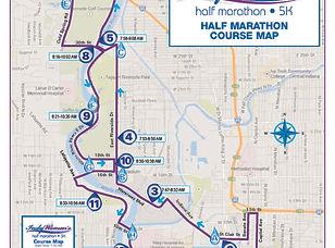 2020 Indy Womens Half Marathon course ma