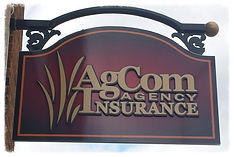 AgCom Insurance Agency sign