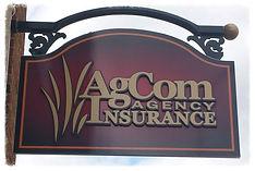AgCom Insurance Agency sign