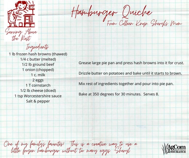 Hamburger Quiche