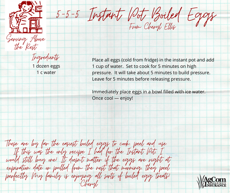 5-5-5 Instant Pot Boiled Eggs
