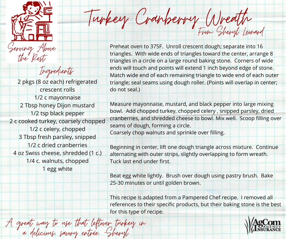 Turkey Cranberry Wreath