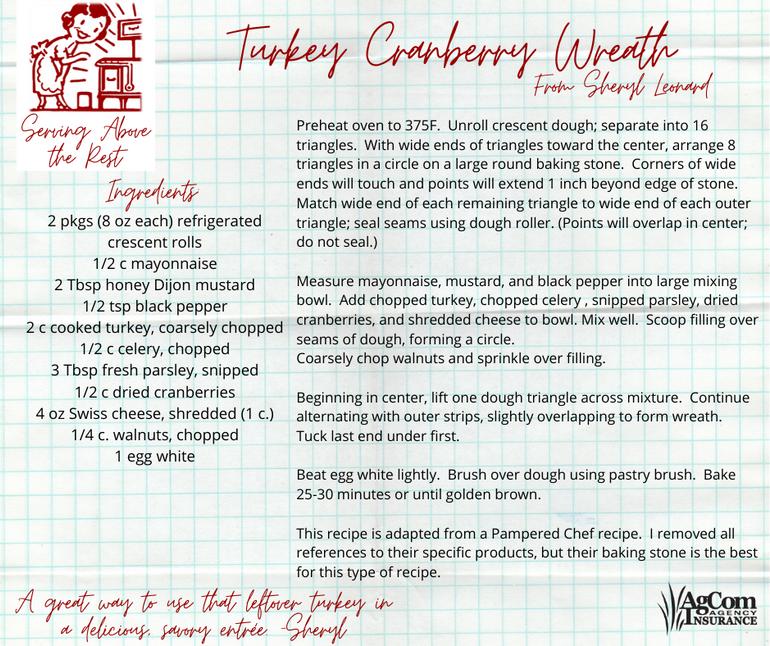 Turkey Cranberry Wreath