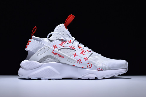 1e42c88b502f NIKE X SUPREME X LV AIR HUARACHE RUN ULTRA CUSTOMS – WHITE   RED