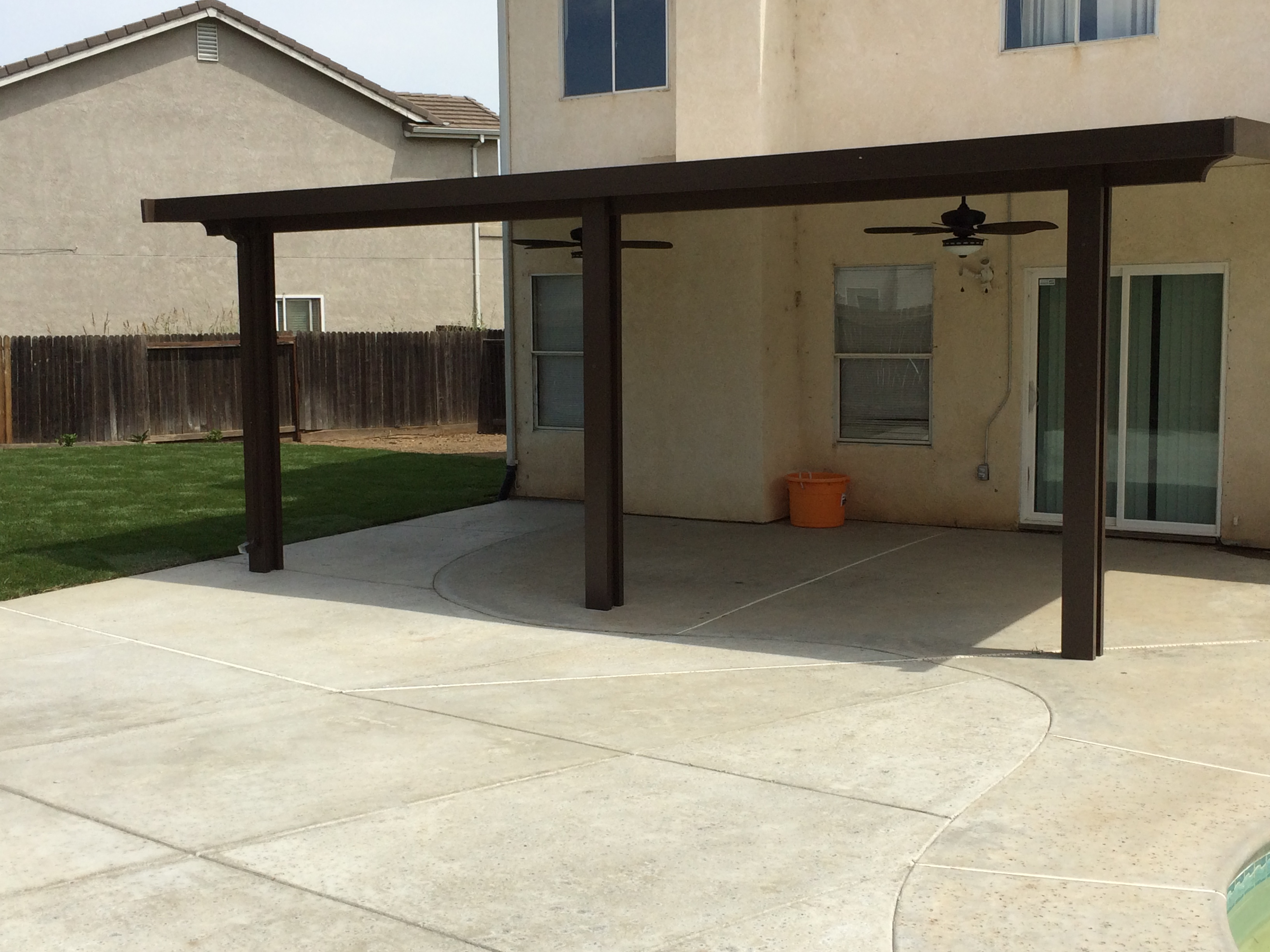 14.  Solid patio cover - Stockton