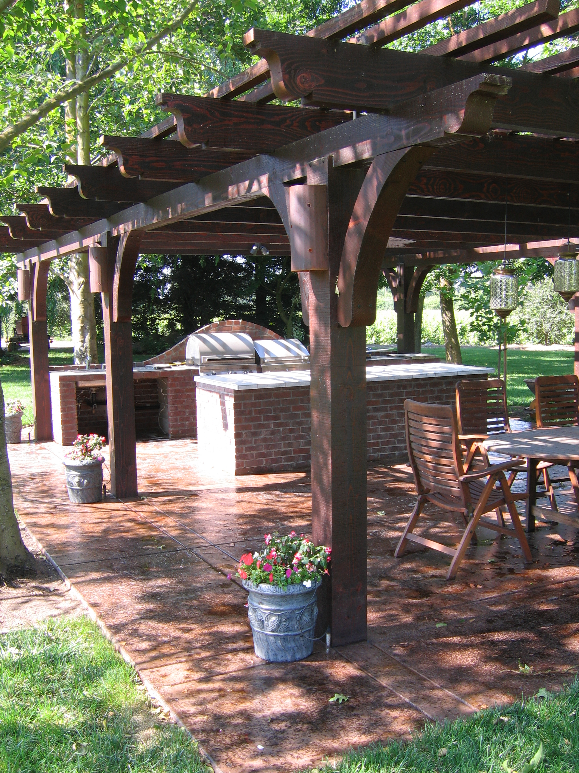 16.  Patio covers / stained concrete
