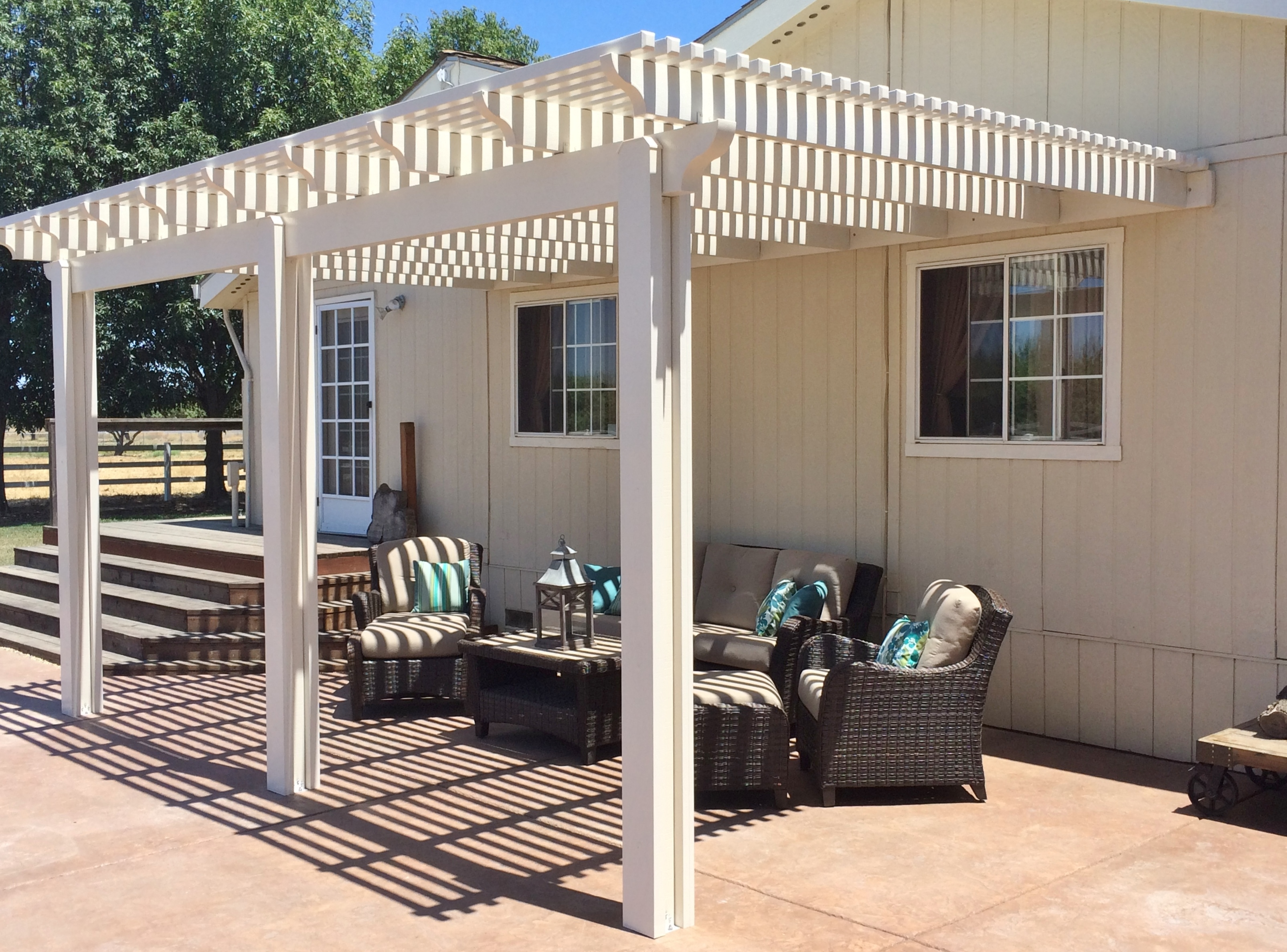 13.  Lattice style patio cover-Tracy