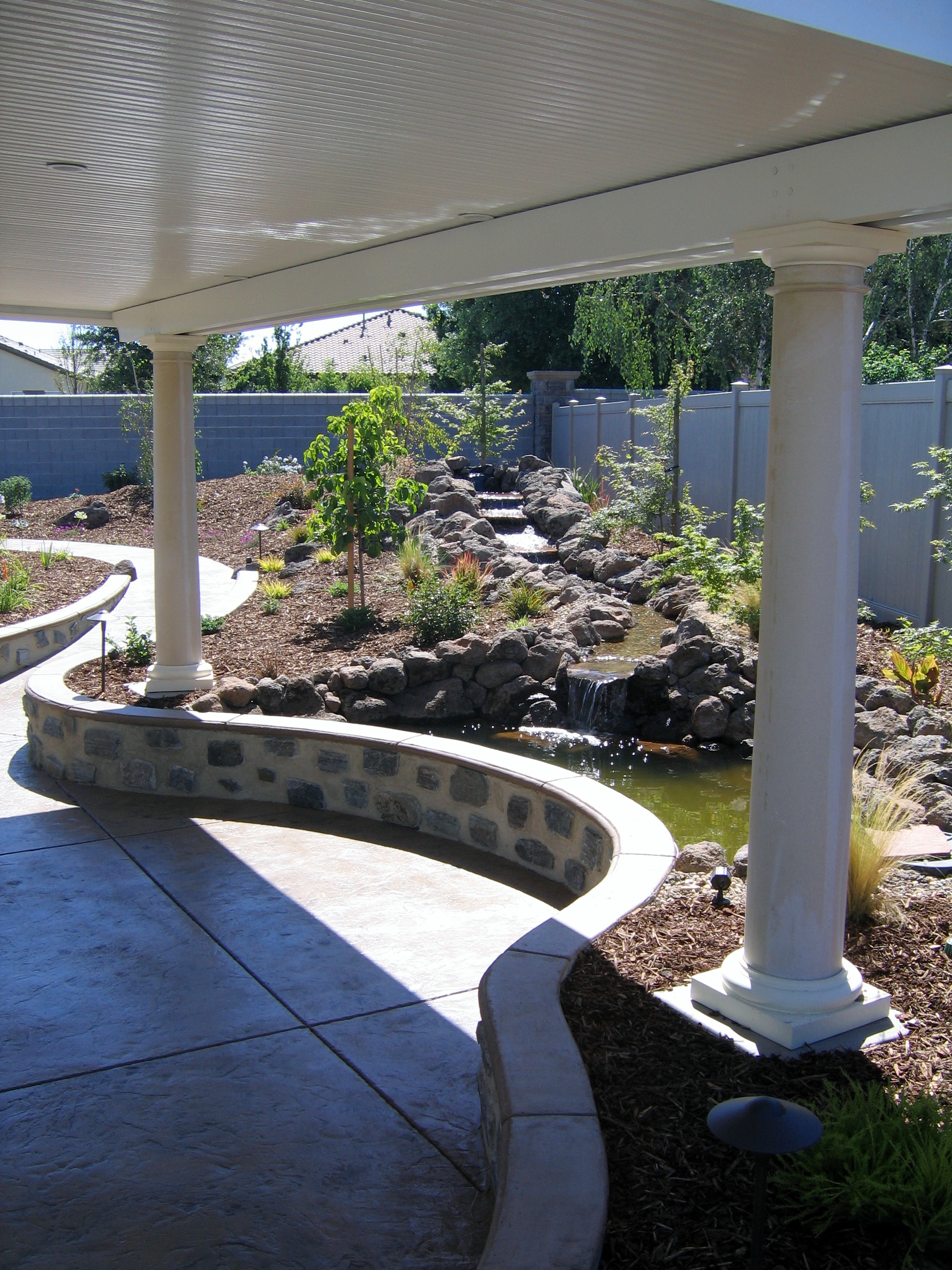10.  Patio covers and ponds-Manteca