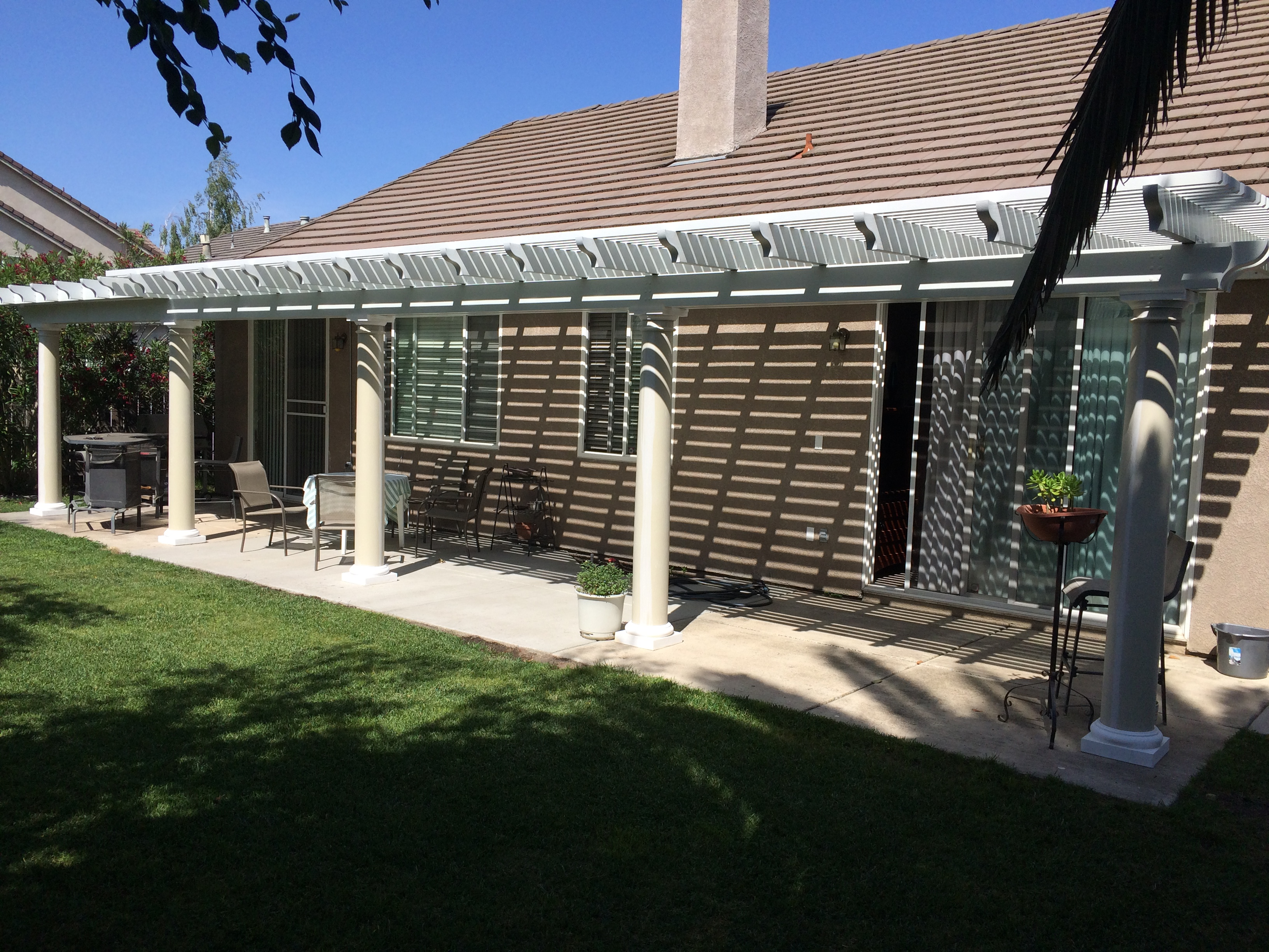 37.  Combo lattice/solid patio cover