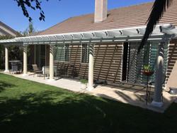 37.  Combo lattice/solid patio cover