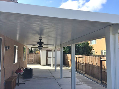 Solid patio covers.