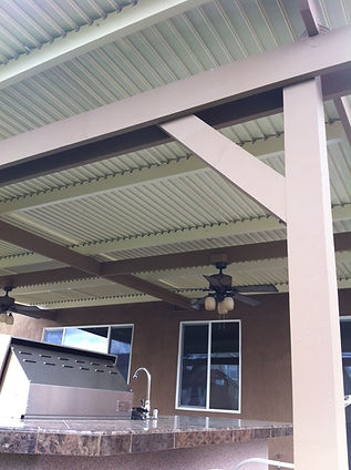 Solara patio covers in the closed position.