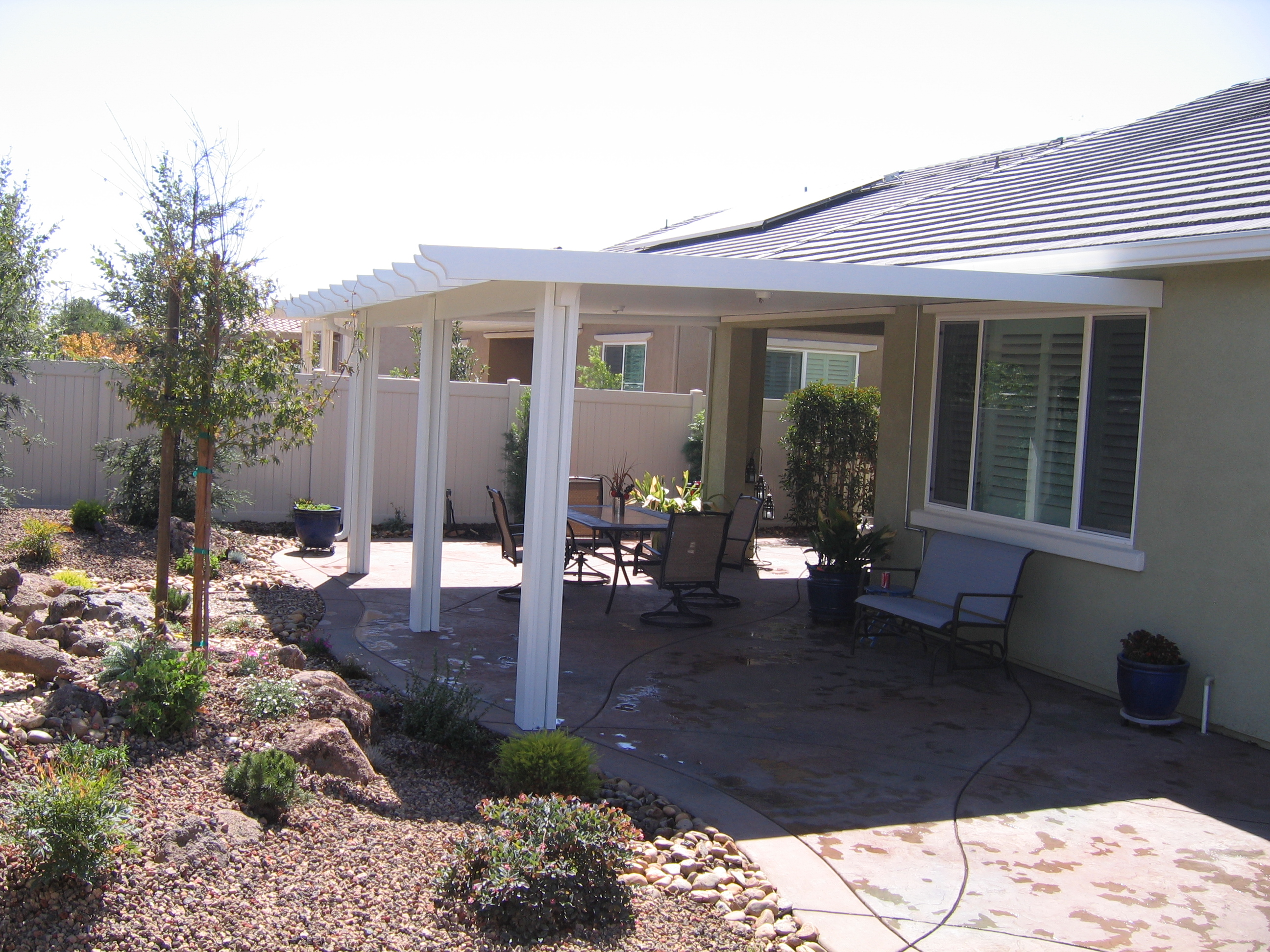 12.  Solid patio cover - Lodi
