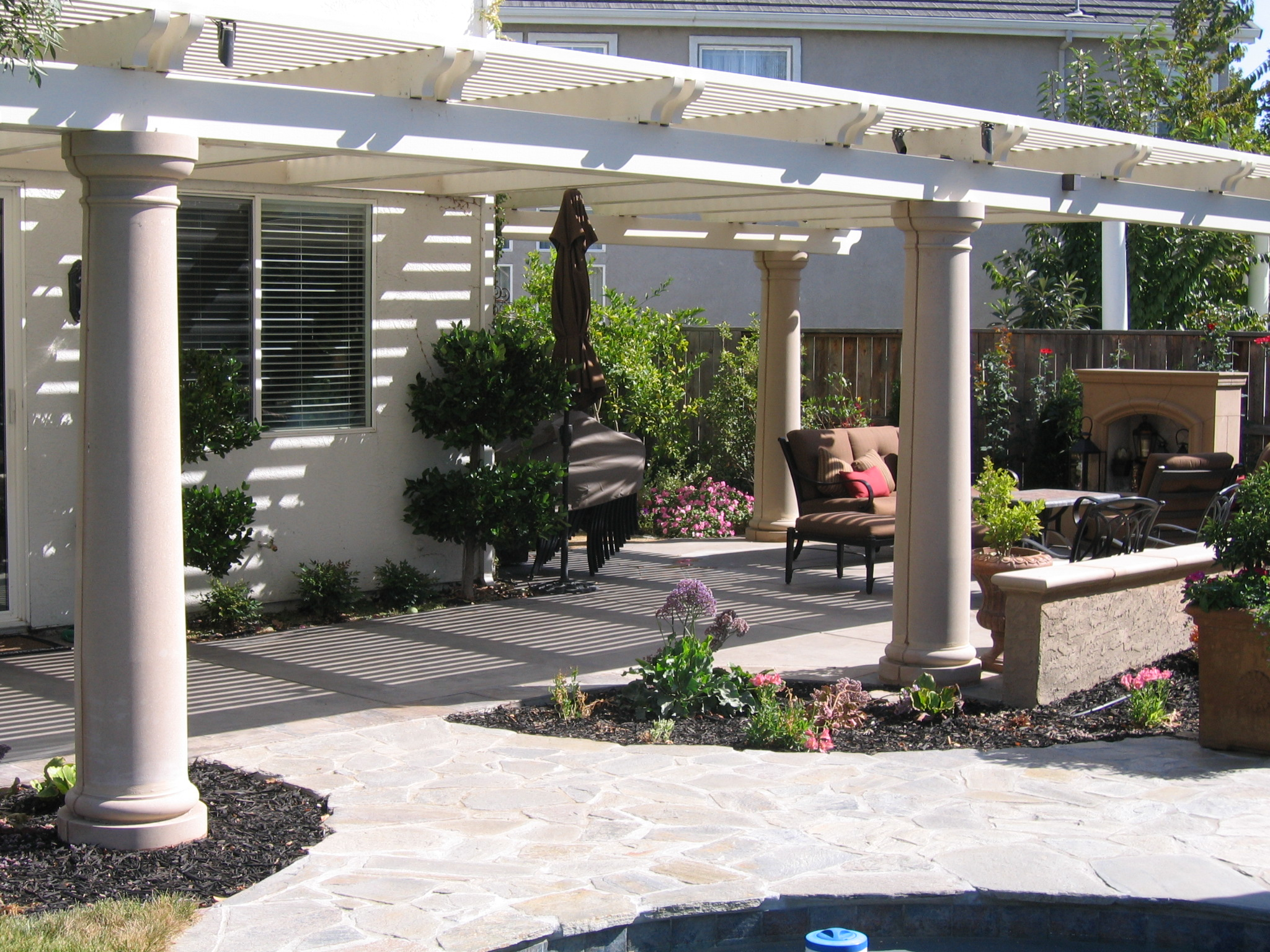 7. Lattice style patio covers