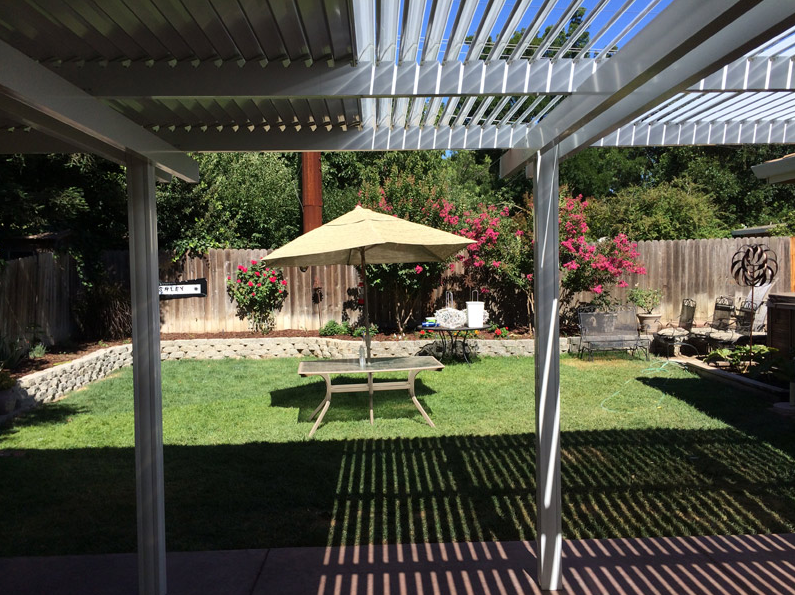 38.  Solara adjustable patio covers