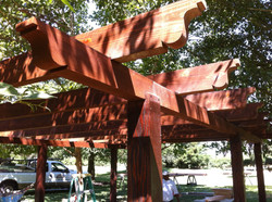 9.  Open air wood patio covers-Lodi