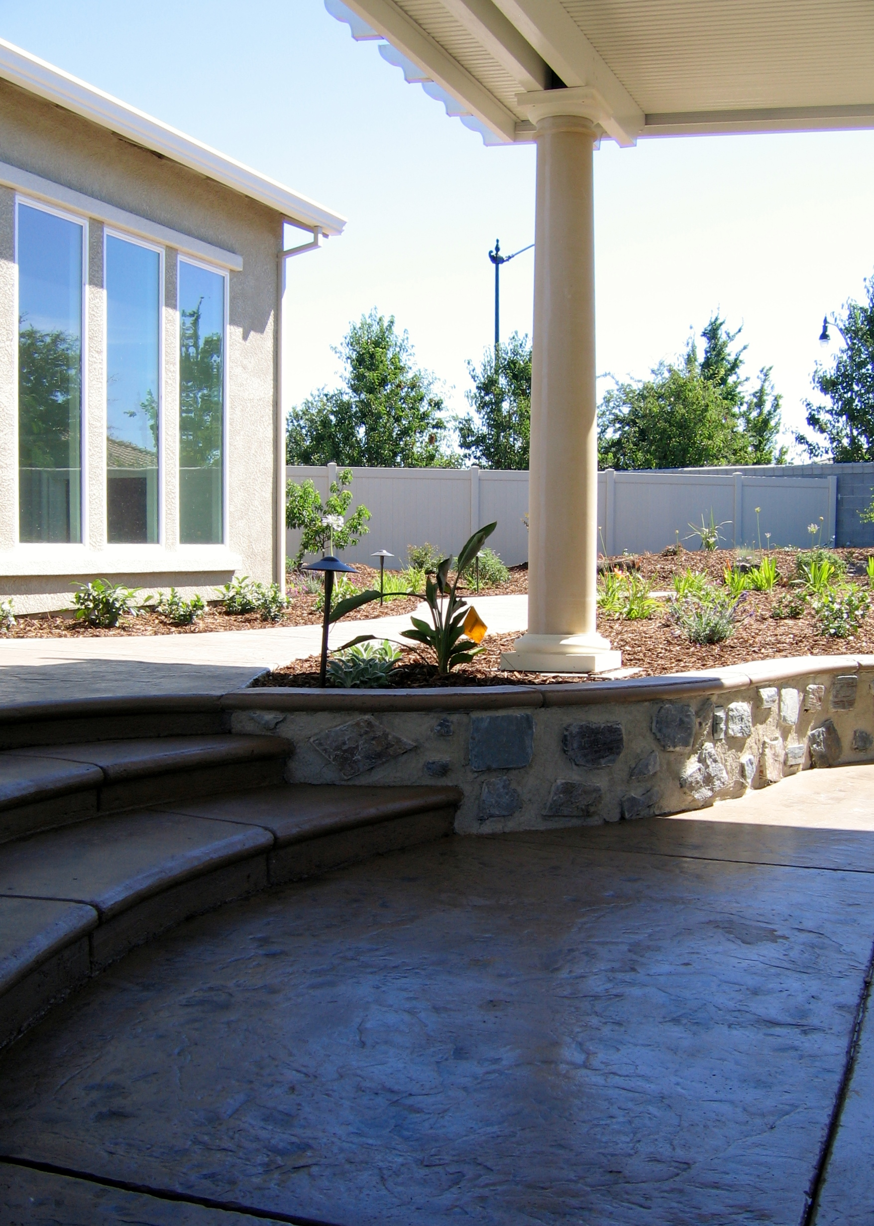 15.  Stamped concrete - Manteca