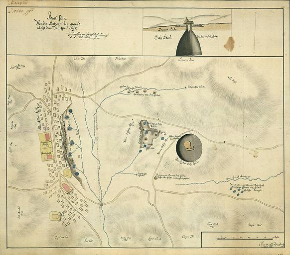 térkép Szék és a sóbánya 1786 Szék Sic Romania