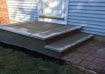 New steps with limestones