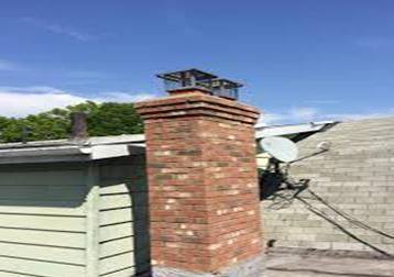 Masonry brick chimney