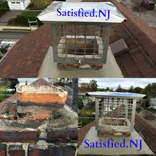 Before and after chimney repair