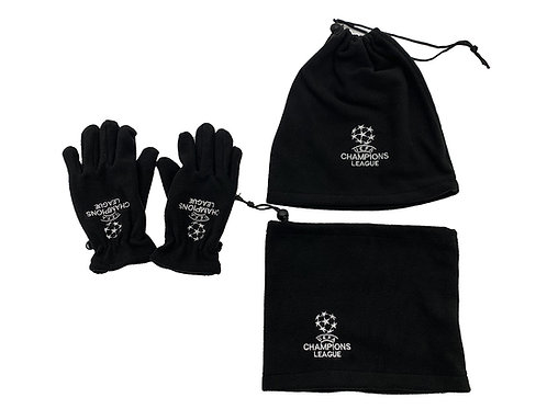 Champions League Winter handschoenen, Muts en Sjaal