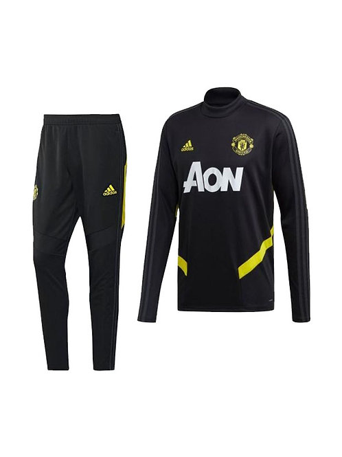 Manchester United Trainingspak 2019-2020 Zwart/Geel