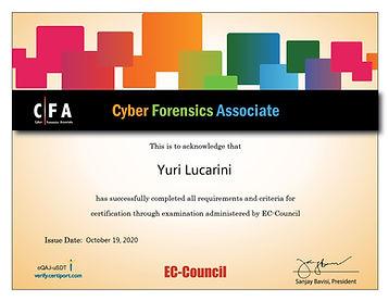 Cyber Forensics Associate Attestato