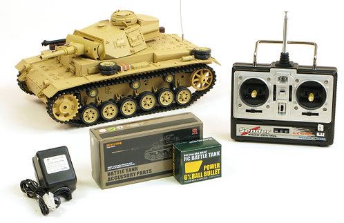 TAUCH PANZER III RC TANK WITH SMOKE AND SOUND