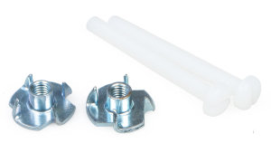 4MM WING BOLT AND BLIND NUT (2 PKT)