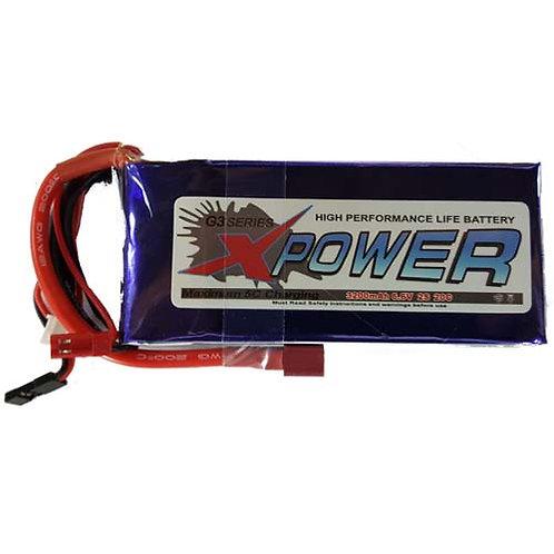 XPOWER 6.6V 2S 3200MAH LI-FE BATTERY