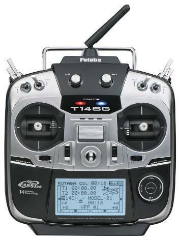 FUTABA 14SG 2.4GHZ RADIO AND RECEIVER
