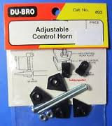 DUBRO 493 ADJUSTABLE CONTROL HORNS
