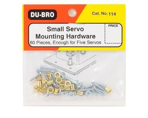 DUBRO 114 SERVO MOUNTING HARDWARE (5 SERVOS)