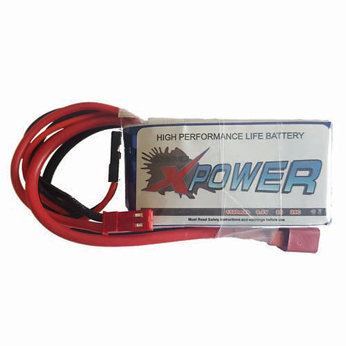 XPOWER 6.6V 2S 1300MAH LI-FE BATTERY