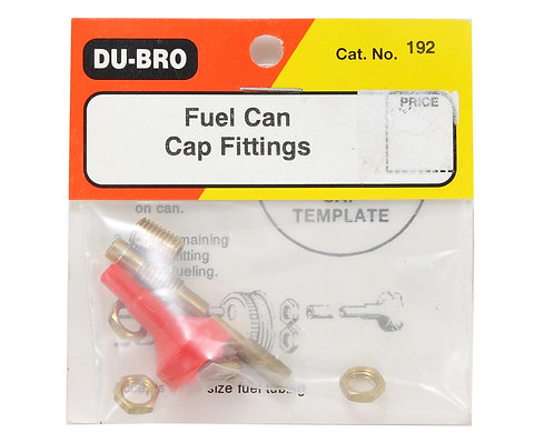 DUBRO 192 FUEL CAN CAP FITTINGS