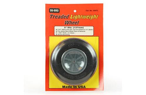 "DUBRO 500TL 5"" TREADED LIGHTWEIGHT WHEEL (EACH)"