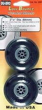 "DUBRO 250T TREADED WHEELS 2 1/2"" (PAIR)"