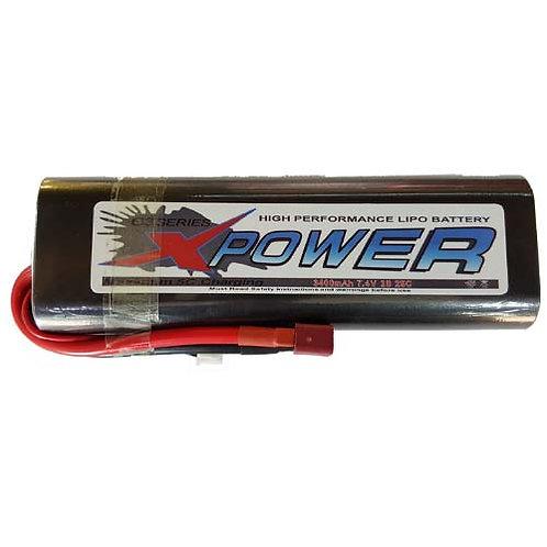 XPOWER 7.4V 2S 3400MAH CAR LI-PO BATTERY
