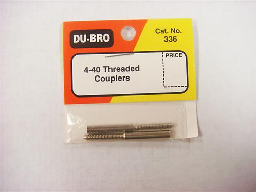 DUBRO 336 THREADED COUPLERS 4-40