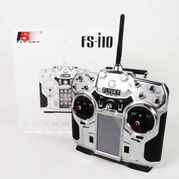 FLYSKY FSI10 PROGRAMABLE 10 CHANNEL 2.4GHZ RADIO AND RECEIVER